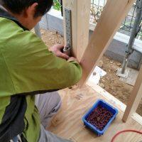 S様邸 木工事(金物取付け)